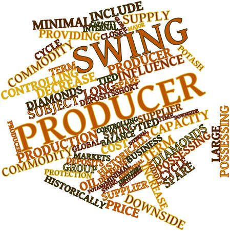 Abstract word cloud for Swing producer with related tags and terms Stock Photo - 17399049