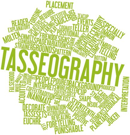 derive: Abstract word cloud for Tasseography with related tags and terms