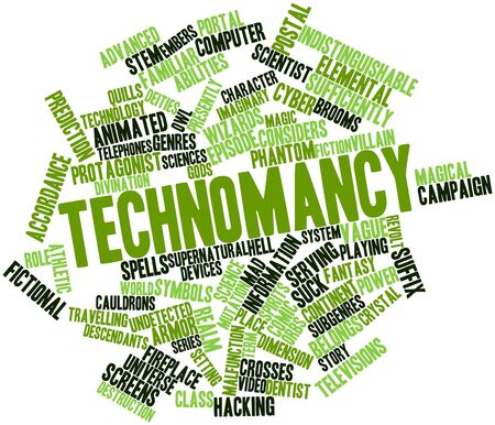descendants: Abstract word cloud for Technomancy with related tags and terms