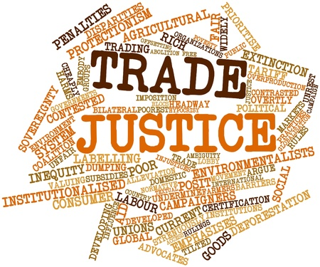 overproduction: Abstract word cloud for Trade justice with related tags and terms