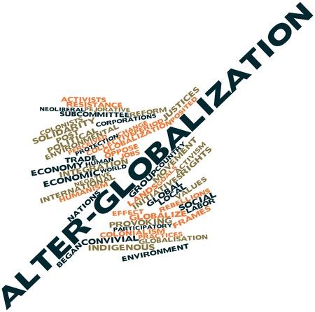 iniciativas: Nube palabra abstracta para Alter-globalizaci�n con las etiquetas y t�rminos relacionados