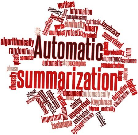 characterize: Nube de palabras Resumen para el resumen autom�tico de etiquetas y t�rminos relacionados