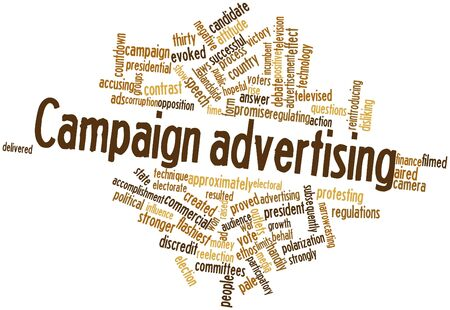 subsequently: Abstract word cloud for Campaign advertising with related tags and terms