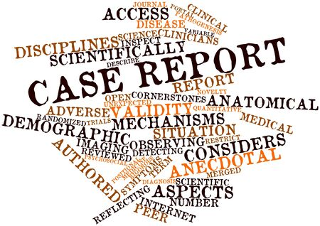 situation: Abstract word cloud for Case report with related tags and terms