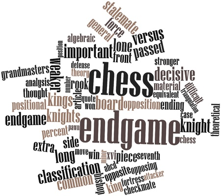 announced: Abstract word cloud for Chess endgame with related tags and terms