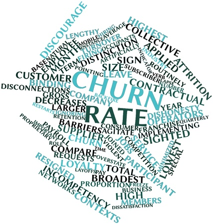 contexts: Abstract word cloud for Churn rate with related tags and terms Stock Photo