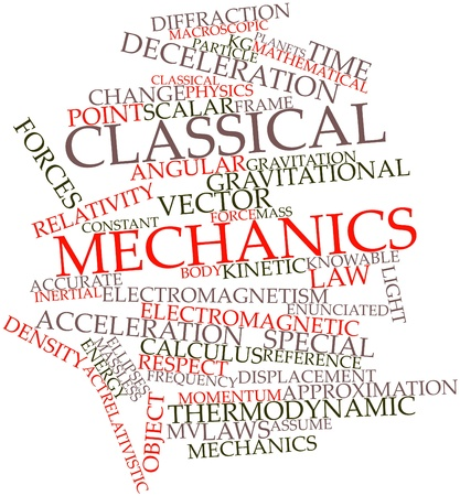 Abstract word cloud for Classical mechanics with related tags and terms