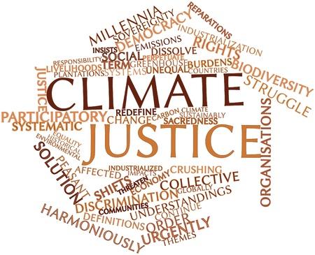reparations: Nube palabra abstracta por la justicia clim�tica con las etiquetas y t�rminos relacionados Foto de archivo