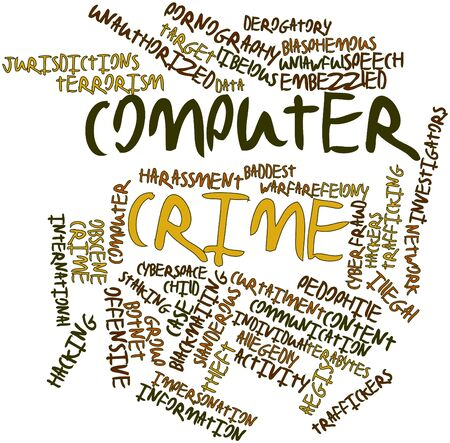 extortion: Abstract word cloud for Computer crime with related tags and terms