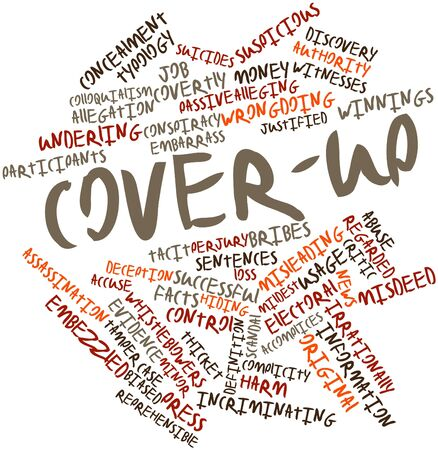 Abstract word cloud for Cover-up with related tags and terms Stock Photo - 17427539