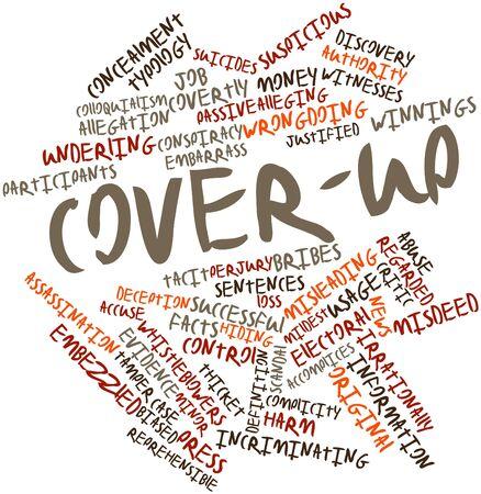 biased: Word cloud astratto a Cover-up con tag e termini correlati