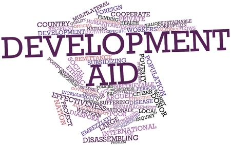 argued: Abstract word cloud for Development aid with related tags and terms