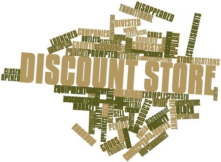 Abstract word cloud for Discount store with related tags and terms Stock Photo - 17427377