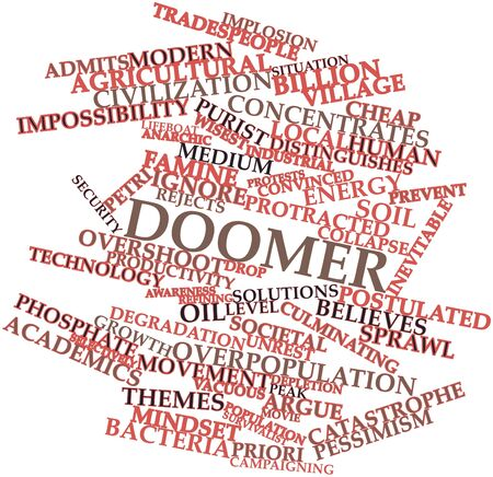 Abstract word cloud for Doomer with related tags and terms Stock Photo - 17427710