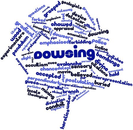Abstract word cloud for Dowsing with related tags and terms Stock Photo - 17427497