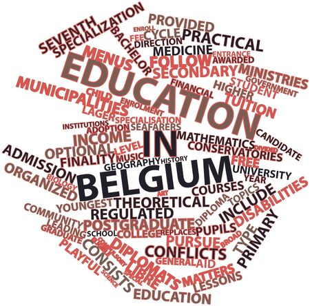 conservatories: Abstract word cloud for Education in Belgium with related tags and terms Stock Photo