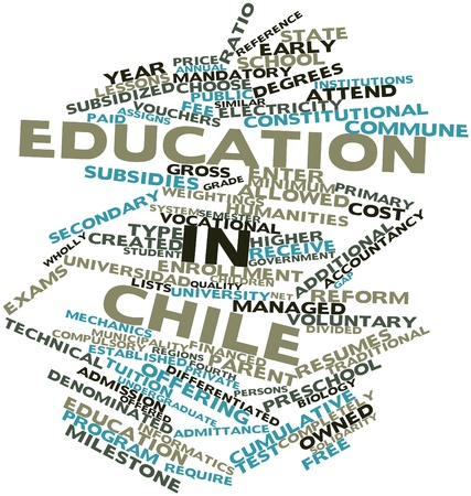 Abstract word cloud for Education in Chile with related tags and terms Stock Photo - 17427510