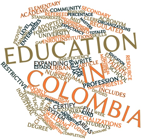 knowledgeable: Abstract word cloud for Education in Colombia with related tags and terms