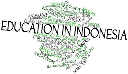 Abstract word cloud for Education in Indonesia with related tags and terms Stock Photo - 17427382