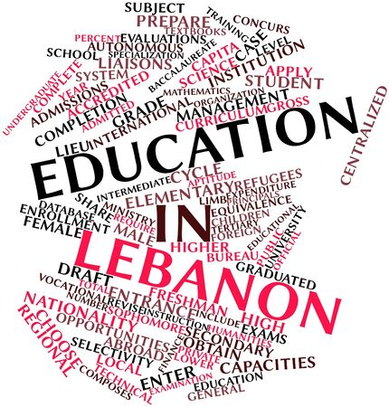 undergraduate: Abstract word cloud for Education in Lebanon with related tags and terms