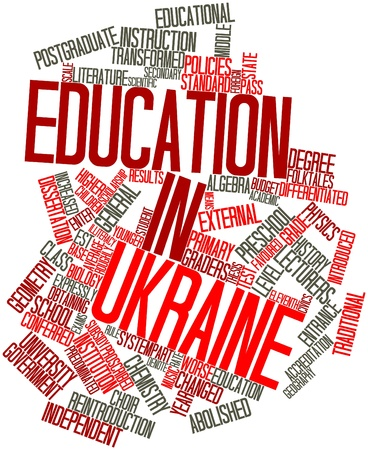 graders: Abstract word cloud for Education in Ukraine with related tags and terms