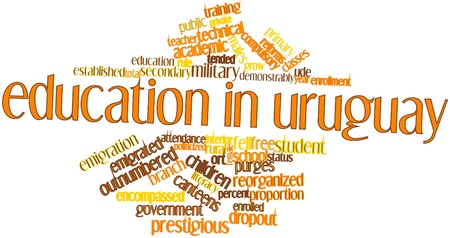 constituting: Abstract word cloud for Education in Uruguay with related tags and terms
