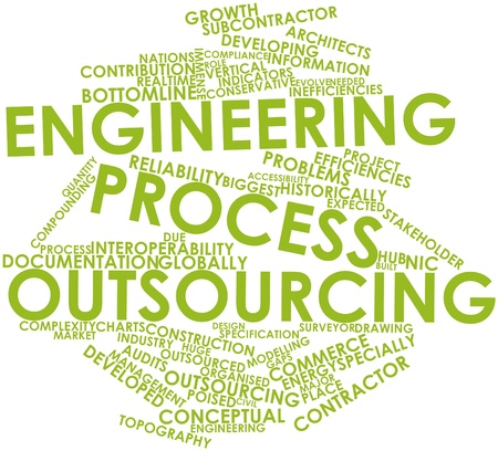 Abstract word cloud for Engineering process outsourcing with related tags and terms Stock Photo - 17427411