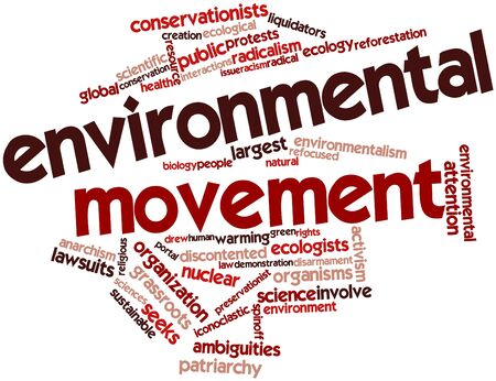 ecologists: Abstract word cloud for Environmental movement with related tags and terms Stock Photo