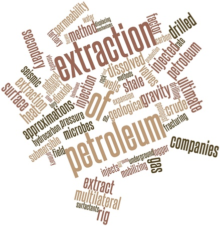 fracturing: Abstract word cloud for Extraction of petroleum with related tags and terms