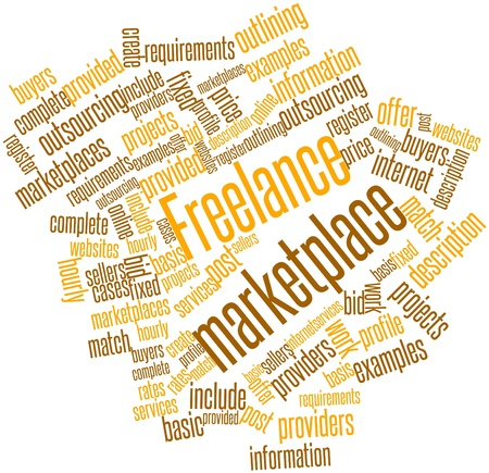 Abstract word cloud for Freelance marketplace with related tags and terms Stock Photo - 17427782