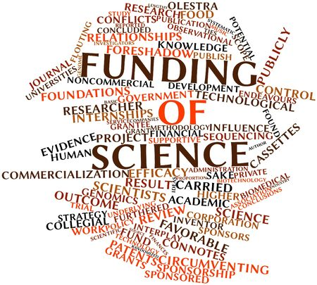 internships: Abstract word cloud for Funding of science with related tags and terms