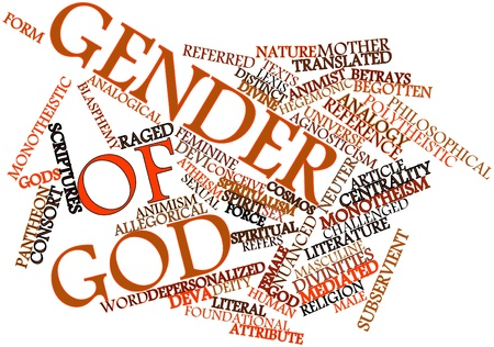 the scriptures: Abstract word cloud for Gender of God with related tags and terms
