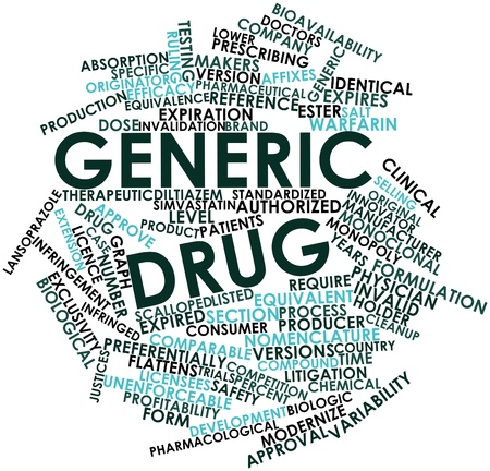 equivalent: Abstract word cloud for Generic drug with related tags and terms