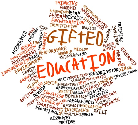 socially: Abstract word cloud for Gifted education with related tags and terms