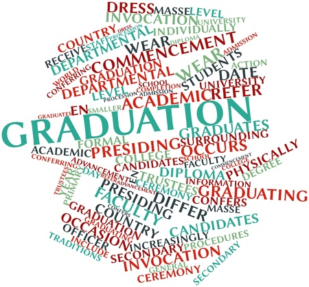 Abstract word cloud for Graduation with related tags and terms Stock Photo - 17427617