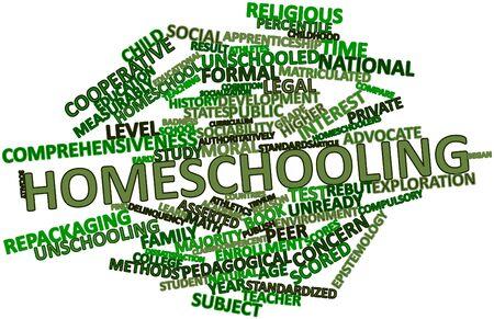 delincuencia: Resumen de la nube de palabra de educaci�n en el hogar con las etiquetas y t�rminos relacionados Foto de archivo