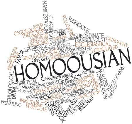 justified: Abstract word cloud for Homoousian with related tags and terms