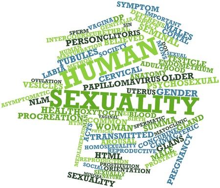 sexualidad: Nube palabra abstracta para la sexualidad humana con etiquetas y términos relacionados