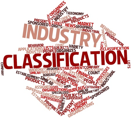 groupings: Abstract word cloud for Industry classification with related tags and terms