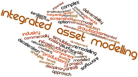 adopting: Abstract word cloud for Integrated asset modelling with related tags and terms