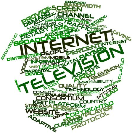 depending: Abstract word cloud for Internet television with related tags and terms