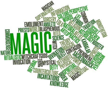 scrying: Abstract word cloud for Magic with related tags and terms