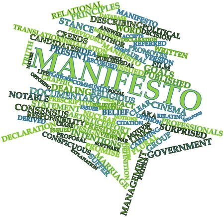 Abstract word cloud for Manifesto with related tags and terms Stock Photo - 17427708