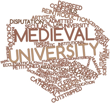 theologians: Abstract word cloud for Medieval university with related tags and terms