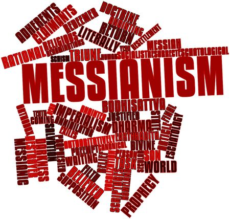Abstract word cloud for Messianism with related tags and terms photo