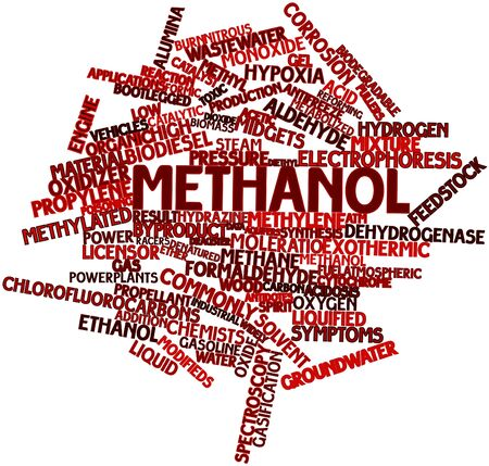 antifreeze: Abstract word cloud for Methanol with related tags and terms