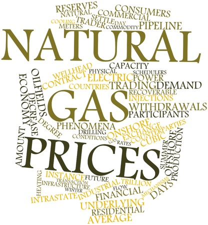 Abstract word cloud for Natural gas prices with related tags and terms Stock Photo - 17427480