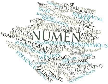 Abstract word cloud for Numen with related tags and terms