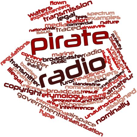flown: Abstract word cloud for Pirate radio with related tags and terms