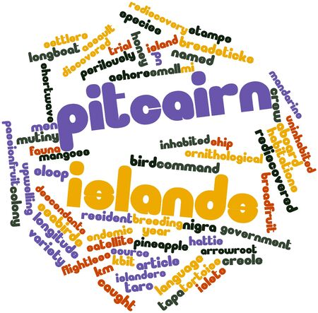 Abstract word cloud for Pitcairn Islands with related tags and terms Stock Photo - 17427394